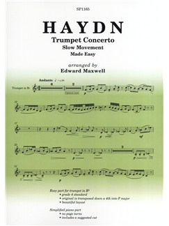 Joseph Haydn: Trumpet Concerto - Slow Movement Made Easy Books | Trumpet, Piano Accompaniment