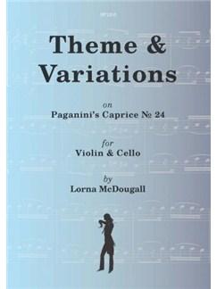 Theme & Variations On Paganini's Caprice No. 24 For Violin And Cello (Arr. Lorna McDougall) Books | Violin, Cello