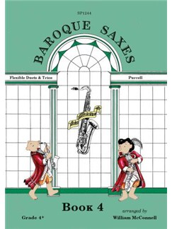 Baroque Saxes: Book 4 (Duets/Trios, Purcell Grade 4+) Books | Saxophone (Duet)