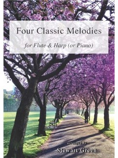 Four Classic Melodies For Flute And Harp (Or Piano) Books | Harp, Flute, Piano
