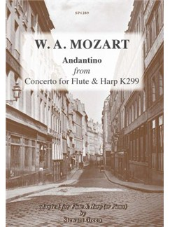 W. A. Mozart: Andantino K299 Books | Flute, Harp, Piano Accompaniment