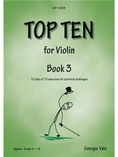 Georgia Vale: Top Ten - Book 3 Libro | Violín