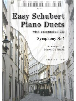 Arr. Mark Goddard: Easy Schubert Piano Duets (Book/CD) Books and CDs | Piano (Duet)