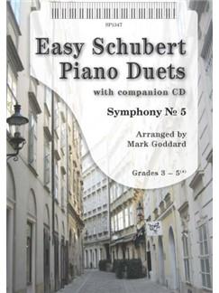 Arr. Mark Goddard: Easy Schubert Piano Duets (Book/CD) Bog og CD | Klaver solo(Duet)