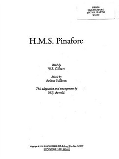 William Gilbert/Arthur Sullivan: H.M.S. Pinafore (5 Pack Choral Parts) Books | 2-Part Choir