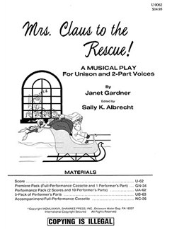 Janet Gardner: Mrs Claus To The Rescue! (Director's Score) Books | Voice and Piano