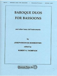 Joseph Bodin de Boismortier: Baroque Duos For Bassoons Books | Bassoon (Duet), Bass Clef Instruments