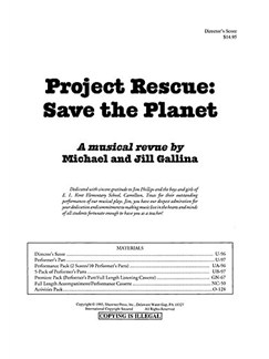 Project Rescue: Save The Planet Director's Score Books | Voice, Piano Accompaniment