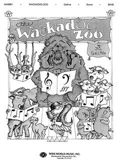 Jill Gallina: The Wackadoo Zoo - Director's Score. Books | Piano and Voice, with Guitar chord symbols
