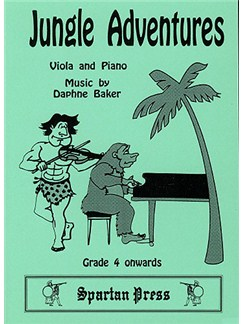 Daphne Baker: Jungle Adventures (Viola & Piano) Books   Piano, Piano Accompaniment