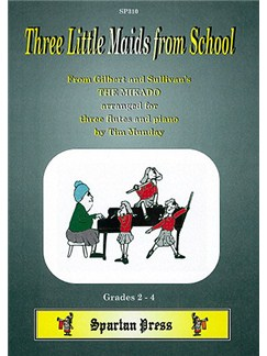 Three Little Maids from School Books | Flute