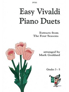 Easy Vivaldi Piano Duets: Four Seasons Extracts Books | Piano
