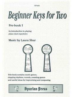 Laura Shur: Beginner Keys for Two Books | Piano Duet