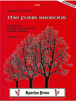 Vivaldi: The Four Seasons  Snippets for Flexible String Ens Books   Ensemble