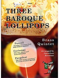 Three Baroque Lollipops For Brass Quintet Books | Brass Quintet
