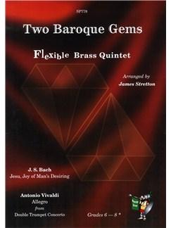 Two Baroque Gems - Flexible Brass Quintet Books   Brass Quintet
