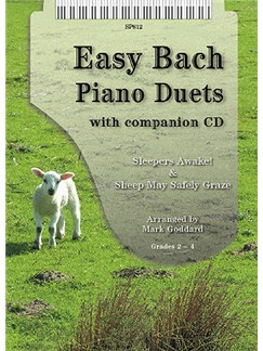 J.S. Bach: Easy Bach Piano Duets Books and CDs | Piano Duet