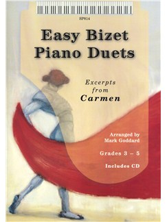 Georges Bizet: Easy Bizet Piano Duets Books and CDs | Piano Duet