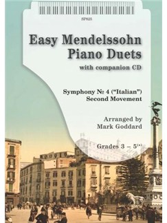 Easy Mendelssohn Piano Duets Books and CDs | Piano (Duet)