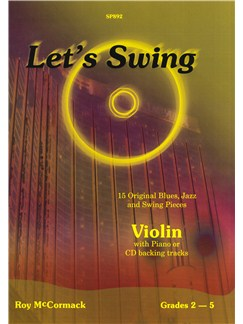 Roy McCormack: Let's Swing (Violin) Books and CDs | Violin, Piano Accompaniment