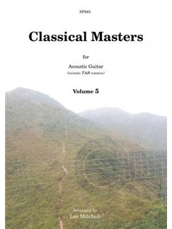 Classical Masters For Acoustic Guitar - Volume 5 Books | Guitar