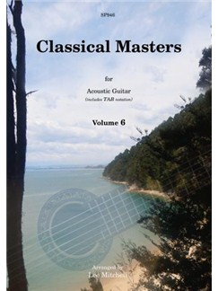 Classical Masters For Acoustic Guitar - Volume 6 Books | Guitar