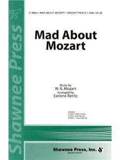 Mad About Mozart (SAB) Livre | SAB, Accompagnement Piano