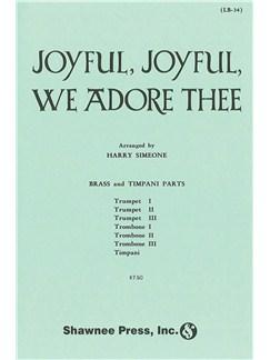 Ludwig Van Beethoven: Joyful, Joyful, We Adore Thee - Brass/Timpani Parts Books | Brass Instruments, Timpani