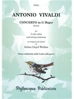 Antonio Vivaldi: Concerto In G RV545 - Piano Reduction (Arr. Julian Lloyd Webber) Books | Cello (Duet), Piano Accompaniment (Duet)