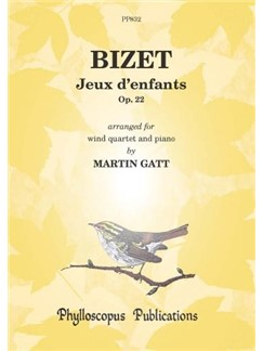 Georges Bizet: Jeux D'Enfants Books | Wind Quintet, Piano Accompaniment