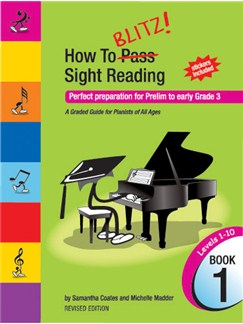 How to Blitz Sight Reading Book 1 Books | Piano