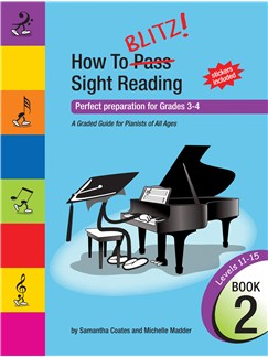 How to Blitz Sight Reading Book 2 Books | Piano