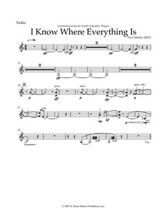 Nico Muhly: I Know Where Everything Is (Parts) Books | Flute, Clarinet, Violin, Cello
