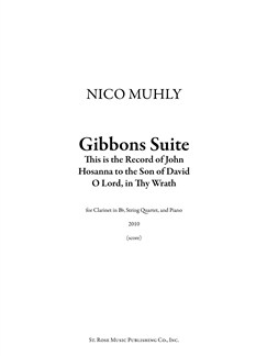Nico Muhly: Gibbons Suite Books | Clarinet, String Quartet, Piano Chamber