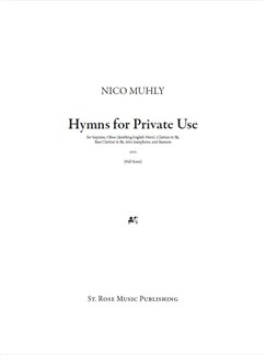 Nico Muhly: Hymns For Private (Score And Parts) Books | Soprano, Oboe, Clarinet, Bass Clarinet, Alto Saxophone, Bassoon
