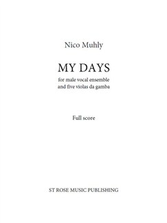 Nico Muhly: My Days (Full Score) Books | Viol (Quintet), ATB (Quintet)