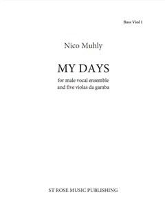 Nico Muhly: My Days (Parts) Libro | Viola(Quinteto)