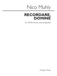 Nico Muhly: Recordare, Domine Books | SATB