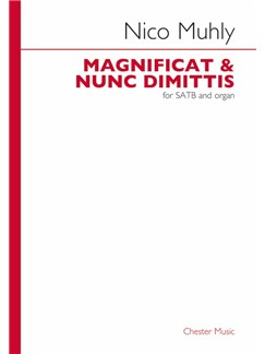 Nico Muhly: Magnificat And Nunc Dimittis Libro | SATB, Acompañamiento de Órgano