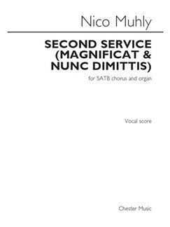 Nico Muhly: Second Service (Magnificat & Nunc Dimittis) Books | SATB, Organ Accompaniment
