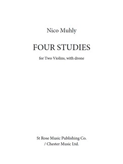Nico Muhly: Four Studies Books | Violin (Duet)
