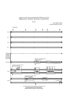 Nico Muhly: Bright Mass With Canons - Version With Two Pianos & Percussion (Parts) Books | Two Pianos, Percussion, SATB