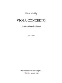 Nico Muhly: Viola Concerto (Score) Books | Viola, Orchestra