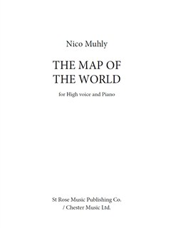 Nico Muhly: The Map Of The World Libro | Voz Alta, Acompañamiento de Piano