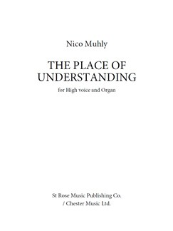 Nico Muhly: The Place Of Understanding Books | High Voice, Organ Accompaniment