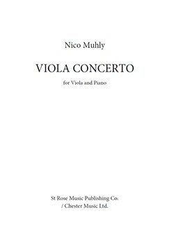 Nico Muhly: Viola Concerto Livre | Alto, Accompagnement Piano
