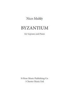 Nico Muhly: Byzantium Books | Soprano, Piano Accompaniment