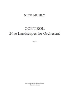 Nico Muhly: Control (Five Landscapes For Orchestra) (Full Score) Books | Orchestra