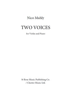 Nico Muhly: Two Voices Books | Violin, Piano Accompaniment