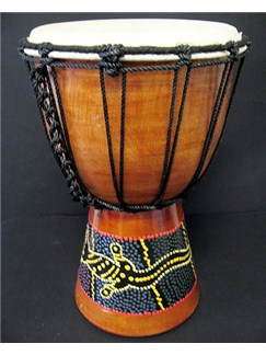 Siesta: Painted Djembe (30cm) Instruments | Percussion, World Drums